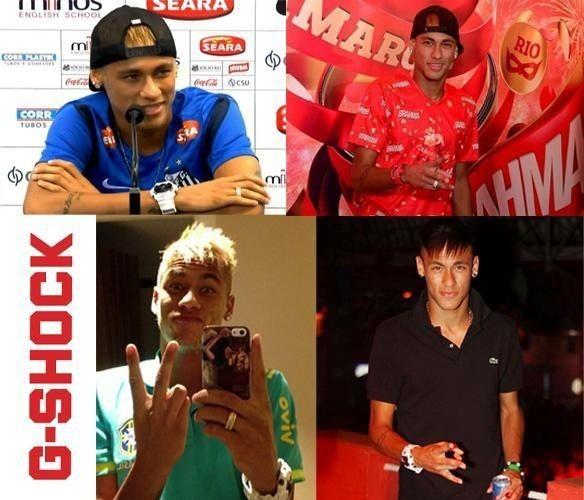 Neymar y su Casio G-Shock